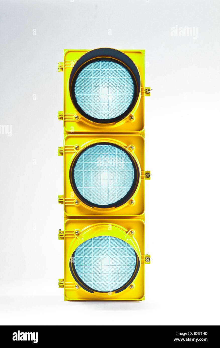 Traffic Signal Lamp, Three Green Lights. Forward Looking