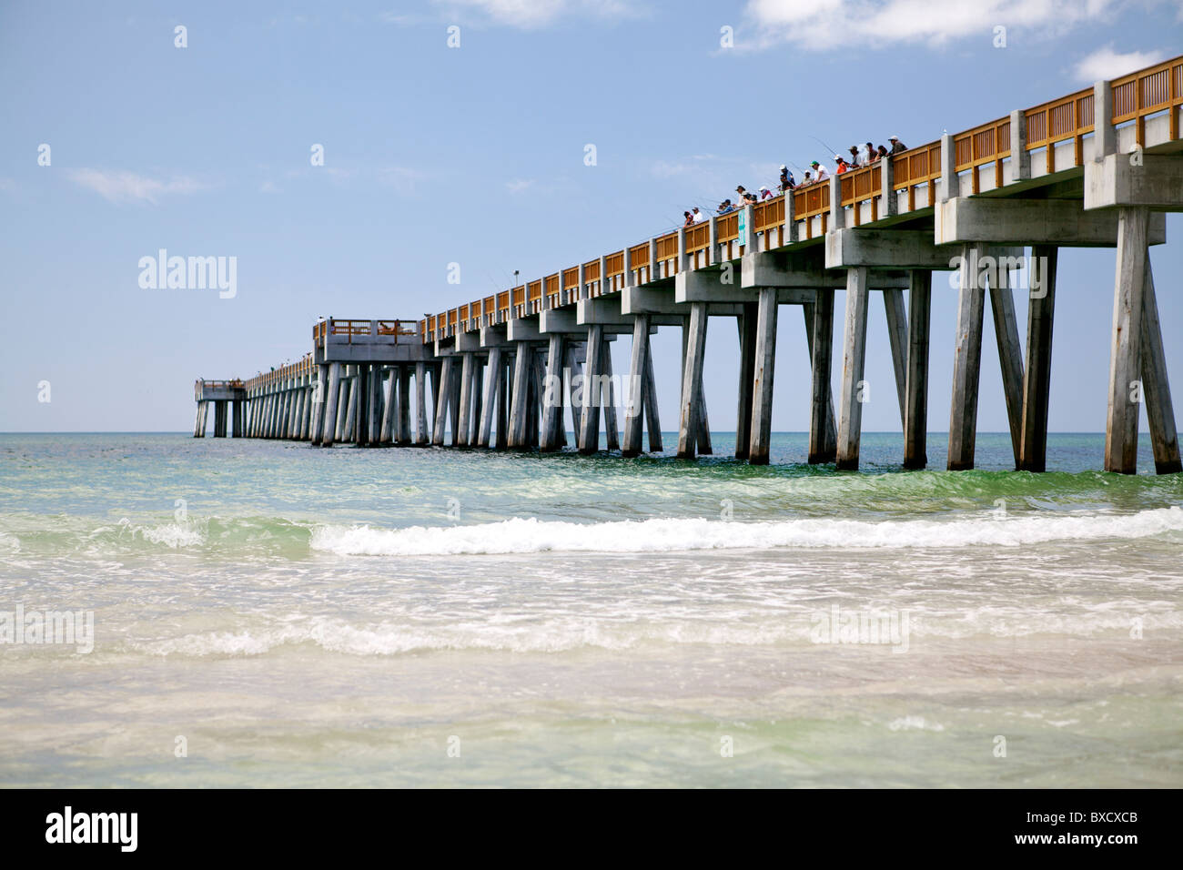 2010 construction of fishing pier at panama city beach for Panama city fishing pier