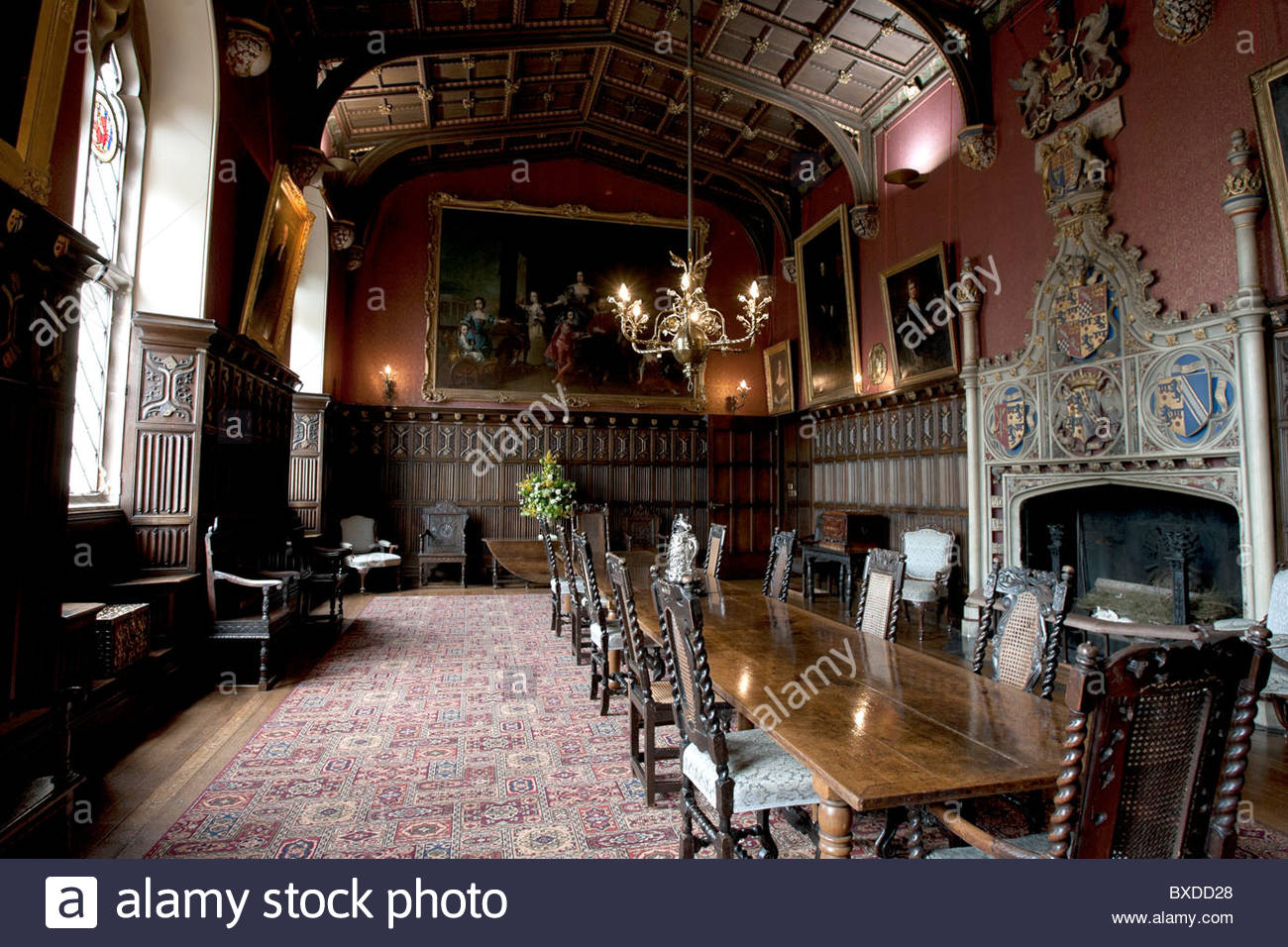 The Dining Room In Powderham Castle Exeter