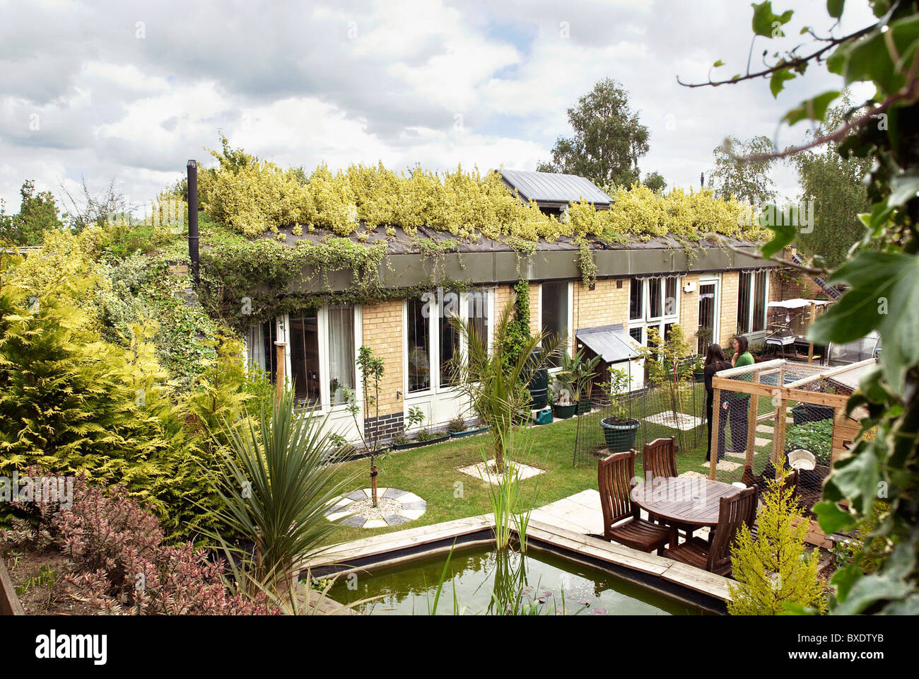 honingham earth sheltered social housing scheme which comprises of