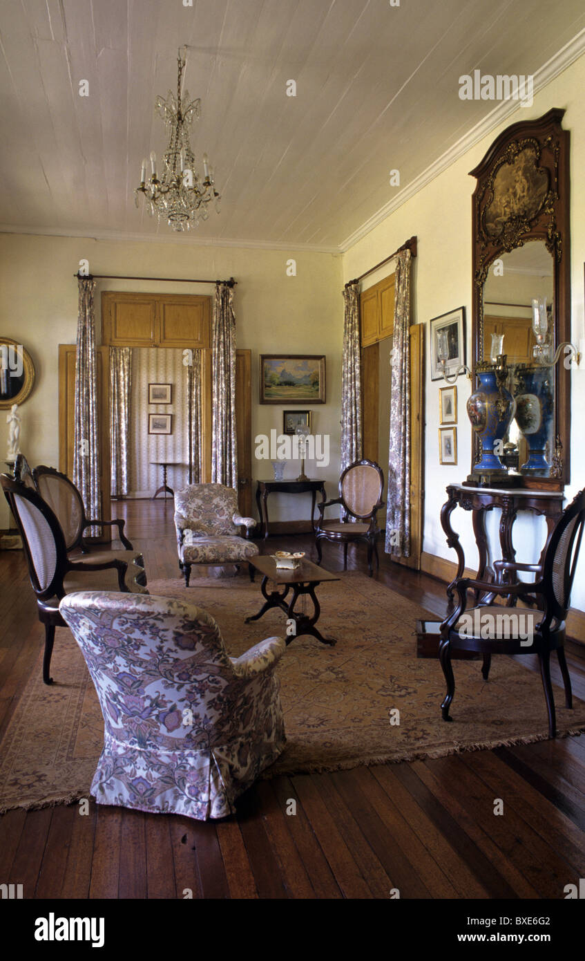 living room or salon interior of eureka built 1830. Black Bedroom Furniture Sets. Home Design Ideas