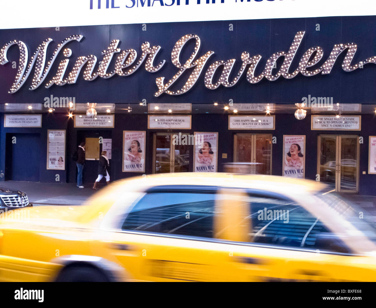 winter garden theater nyc stock photo royalty free image
