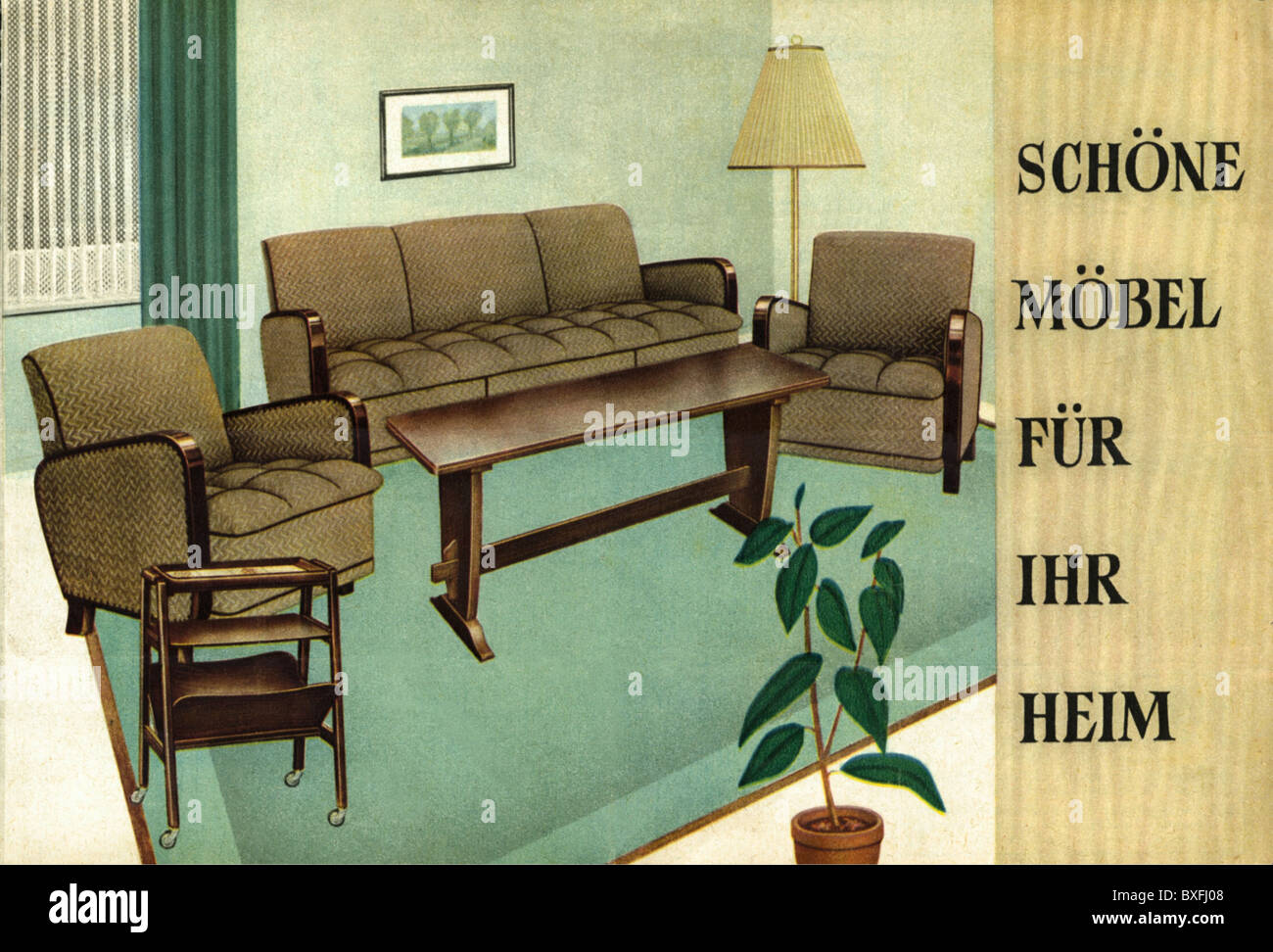 Furniture, Advertising, Oberhausen, Germany, 1954, 1950s, 50s, 20th Century