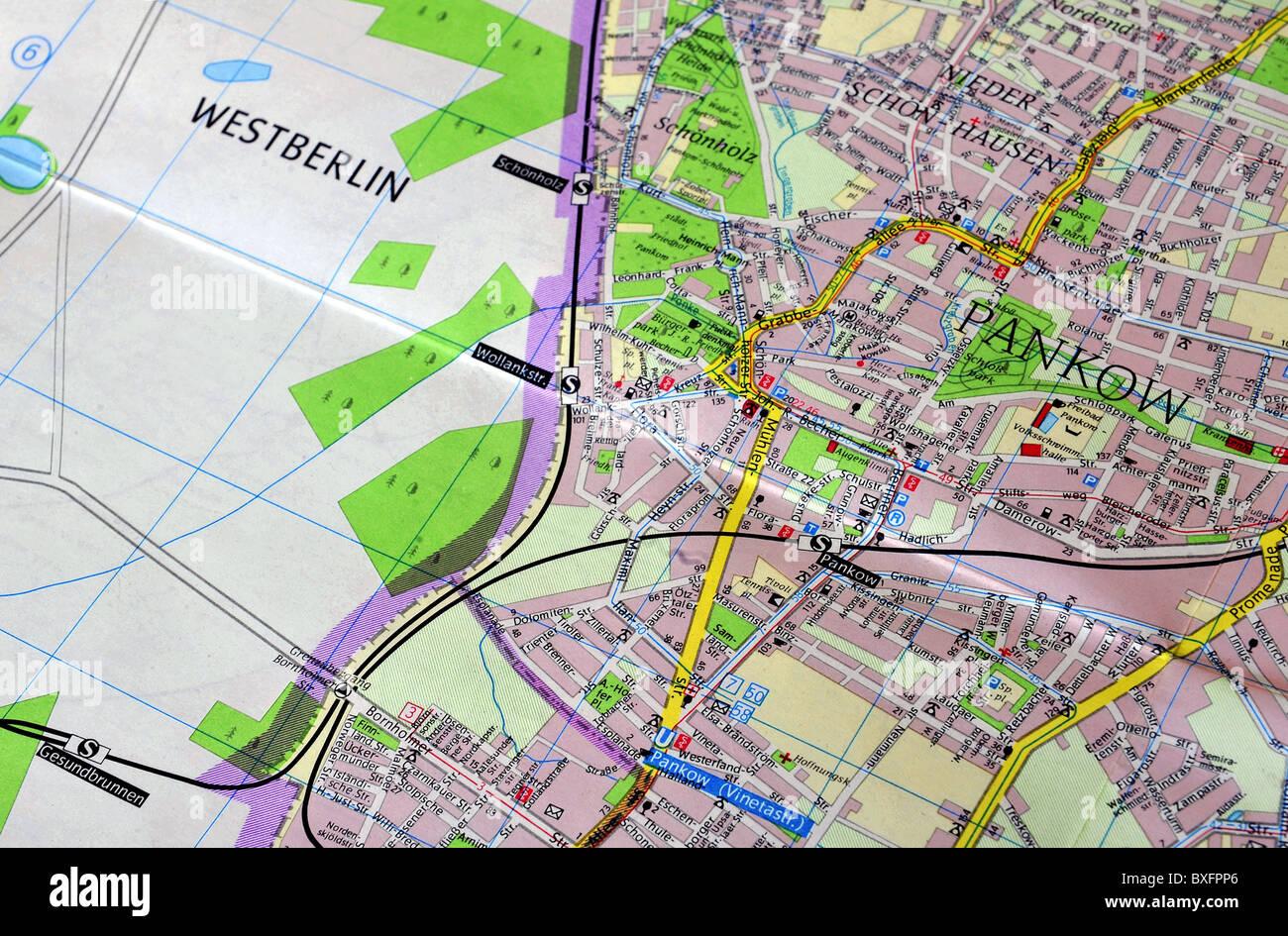 Cartography Political Maps GDR City Map Of Berlin EastBerlin - Berlin map east west