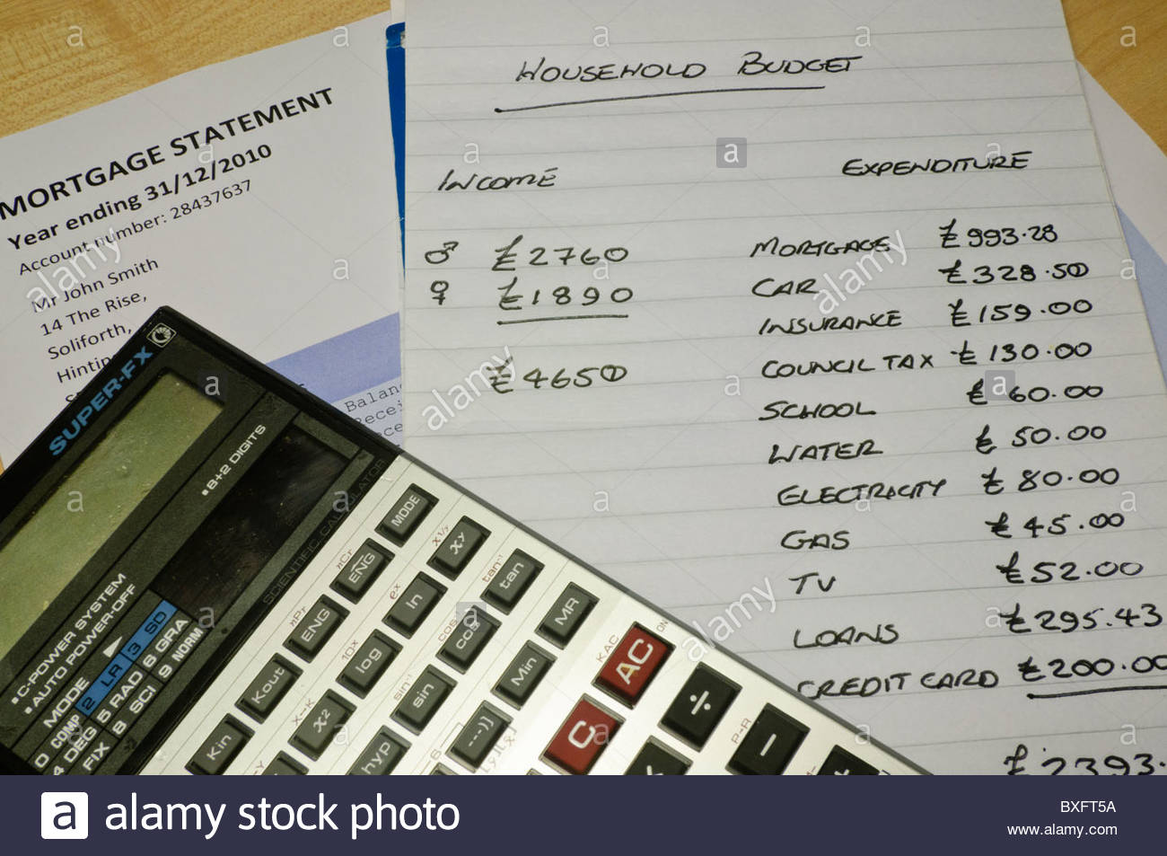 household calculator budget