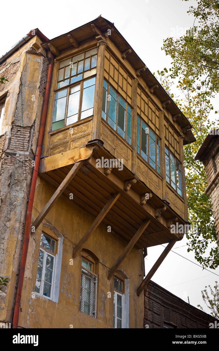 Cantilever Balcony Design Plans: Cantilevered Balcony On Building In Tbilisi Old Town, Kala