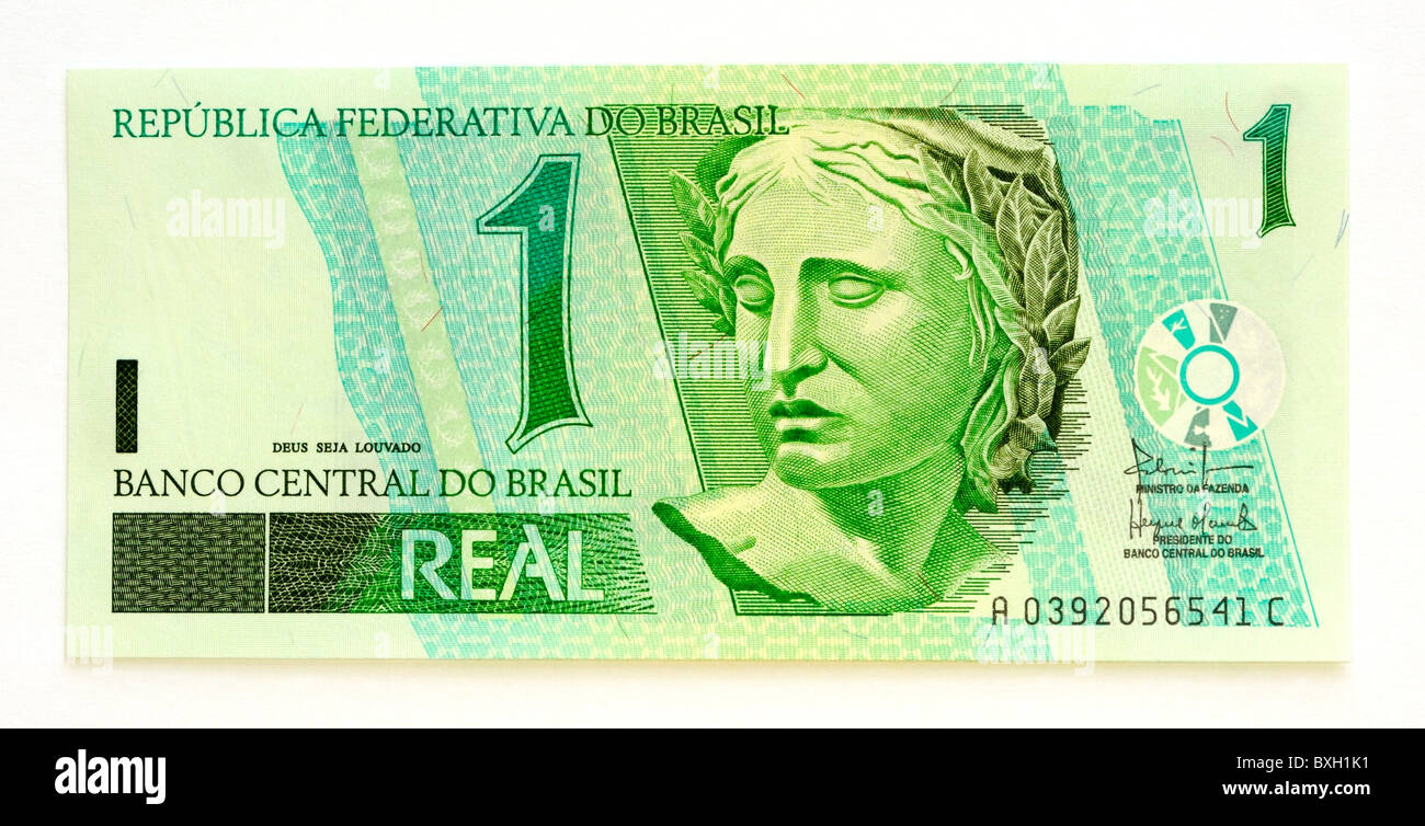 Brazil brasil 1 one real bank note stock photo 33565925 alamy brazil brasil 1 one real bank note buycottarizona Images