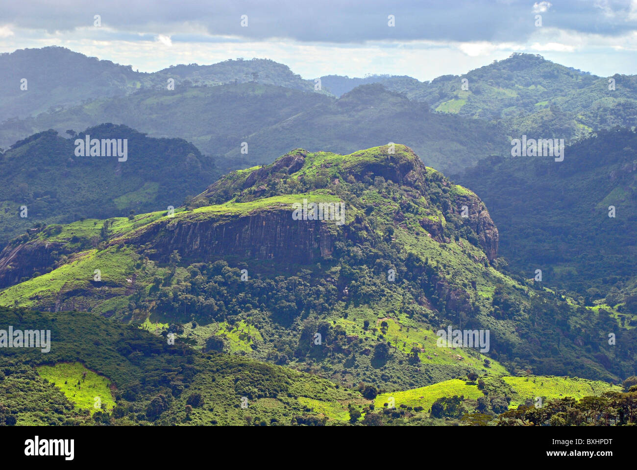 Rugged landscape near man ivory coast west africa stock for Nearby landscapers