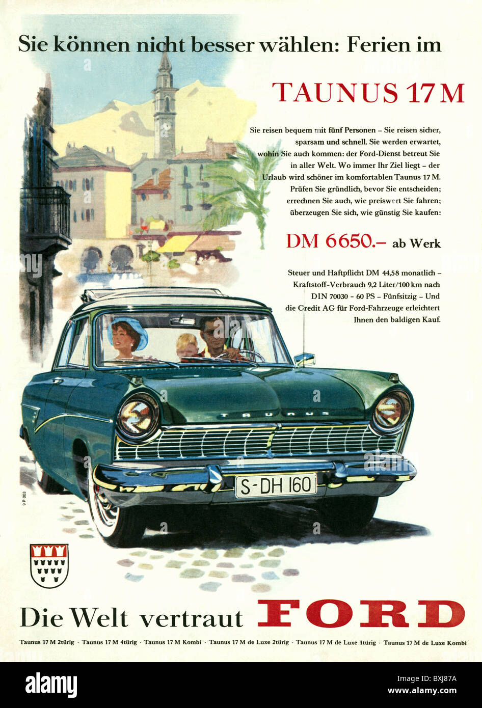 advertising cars Ford Taunus 17 M Germany 1958 1950s 50s & advertising cars Ford Taunus 17 M Germany 1958 1950s 50s ... markmcfarlin.com