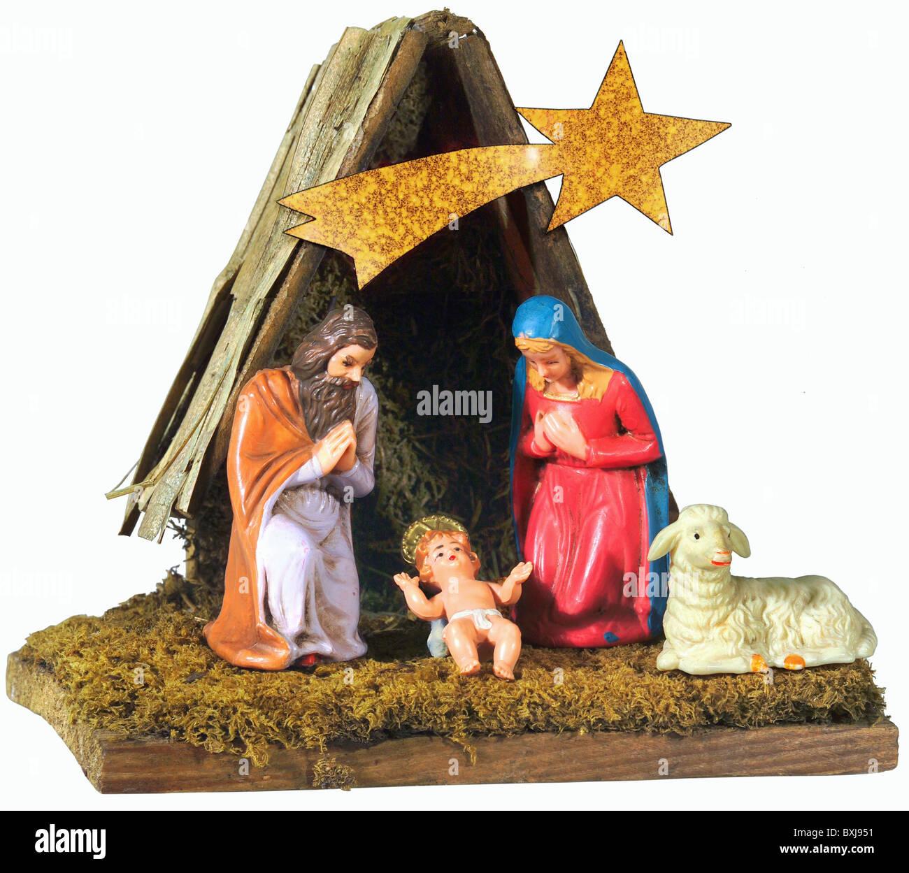 tradition folklore germany creche circa 1955 nativity scene