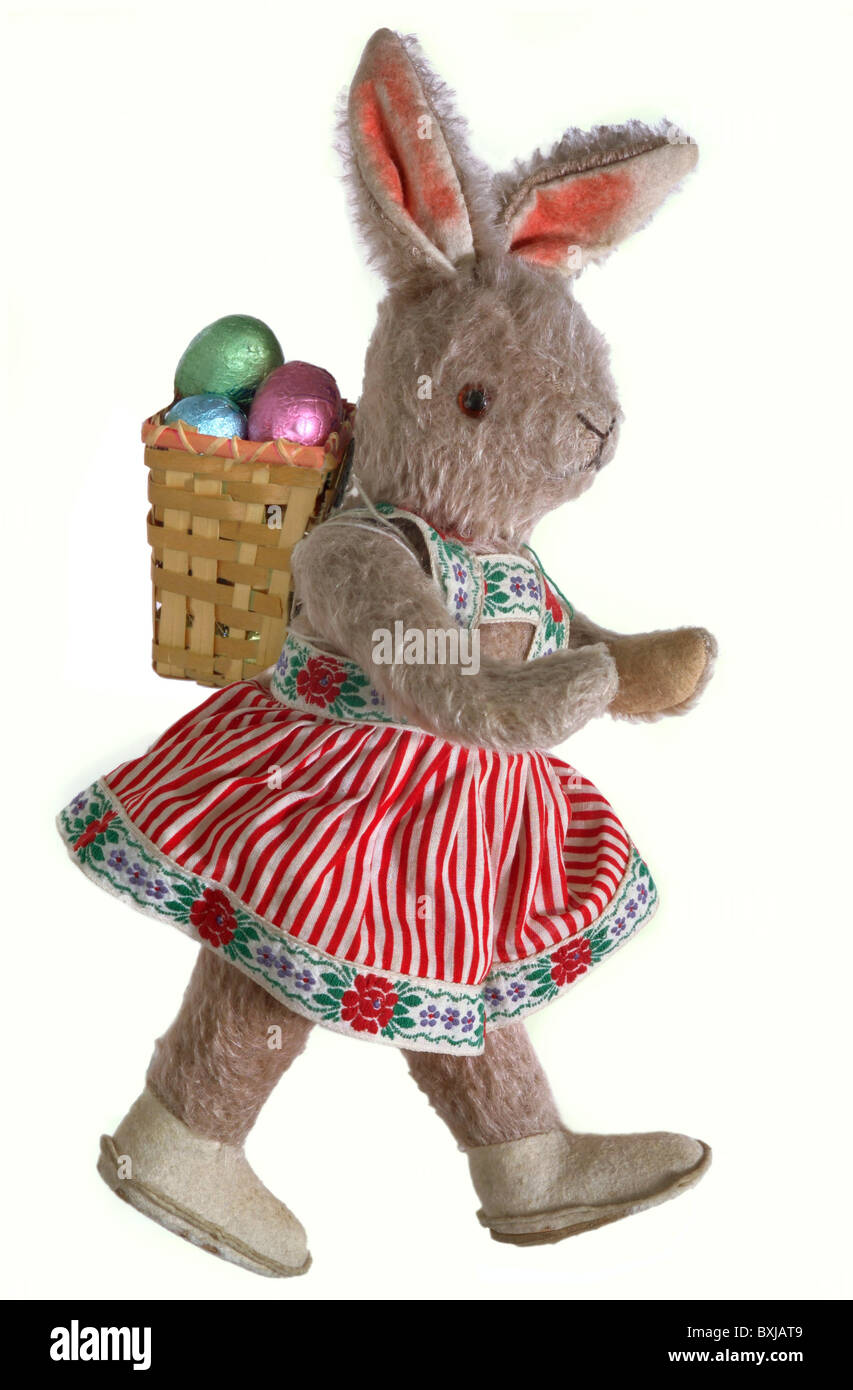 Tradition / Folklore, Germany, Easter Bunny, Soft Toy, Circa 1955 ...