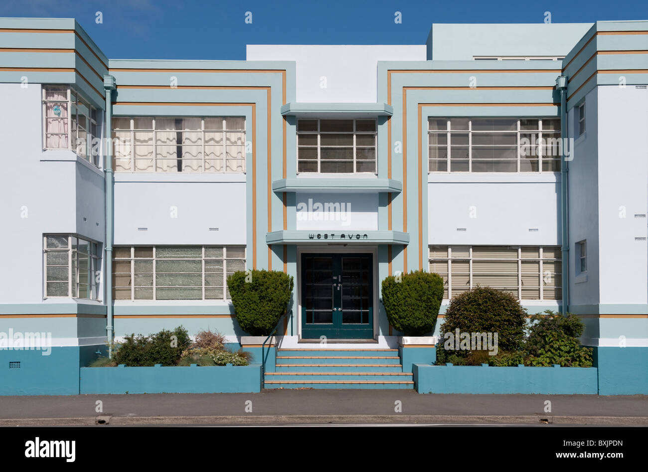39 west avon 39 art deco apartment block on the corner of. Black Bedroom Furniture Sets. Home Design Ideas