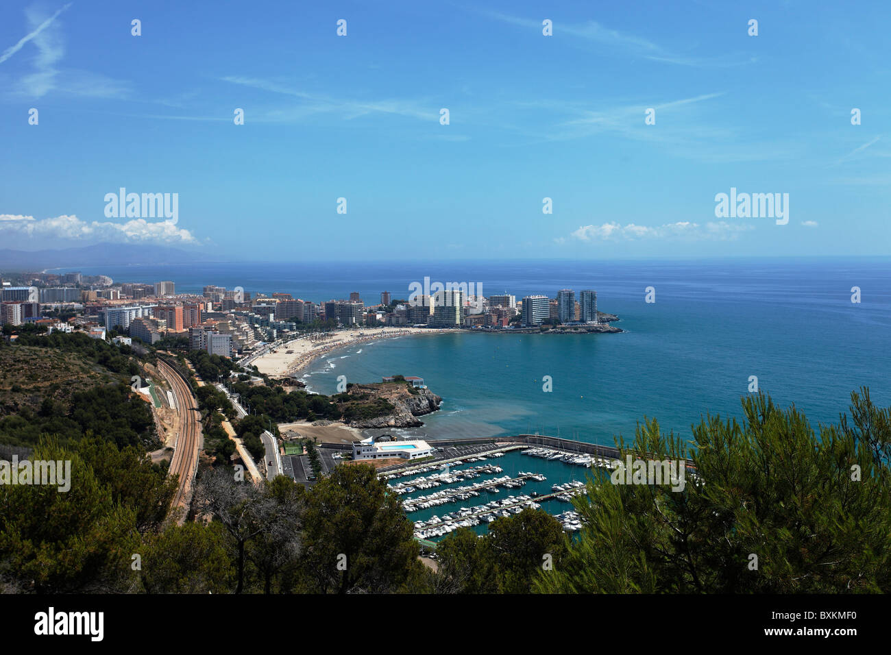 Oropesa del Mar Spain  city pictures gallery : Marina And Sandy Beach, Oropesa Del Mar, Castellon, Spain Stock Photo ...