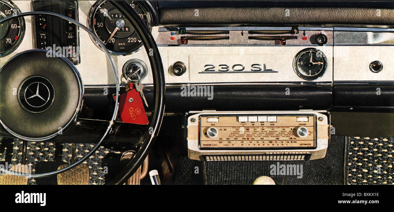 Broadcast Radio Car Dashboard Mercedes 230 Sl Mercedes