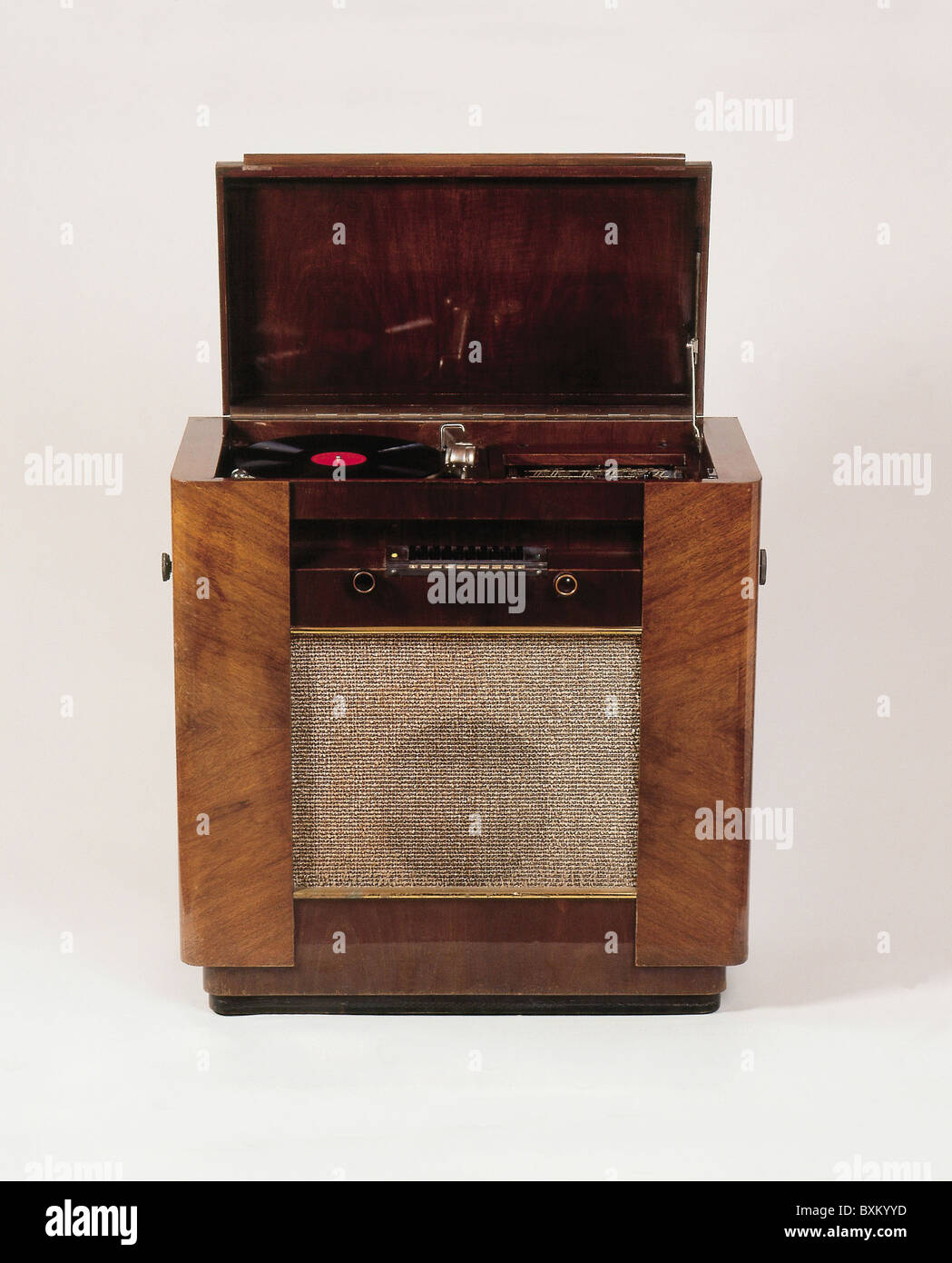 Cabinet Record Player Broadcast Radio Philips Music Cabinet D 65 With Integrated