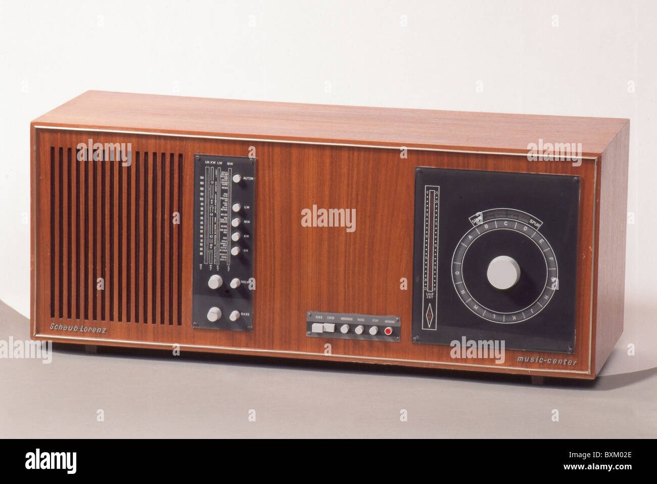 broadcast radio radio set schaub lorenz music center 5001 germany stock photo royalty free. Black Bedroom Furniture Sets. Home Design Ideas