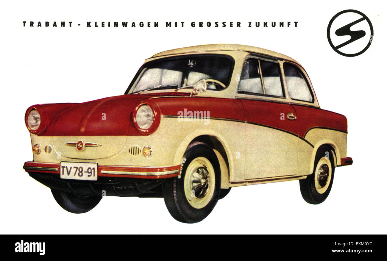 Colored cars zwickau - Stock Photo Transport Transportation Car Vehicle Variants Trabant Made By Veb Sachsenring Automobilwerke Zwickau East Germany 1959