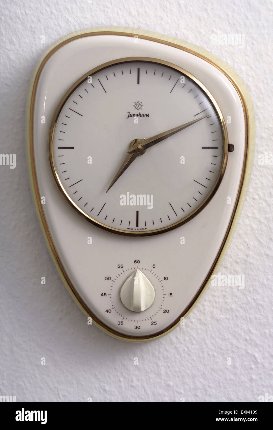 clocks wall clocks kitchen clock by junghans germany circa 1958 1950s. beautiful ideas. Home Design Ideas