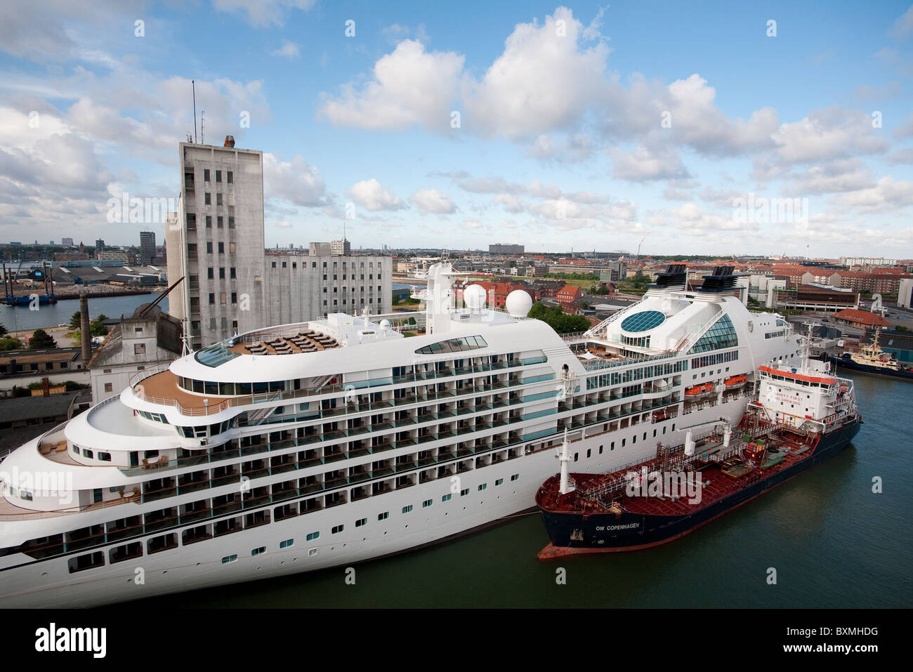Cruise Ships And A Bunker Boat In Copenhagen Denmark Stock Photo Royalty Free Image 33644172 ...