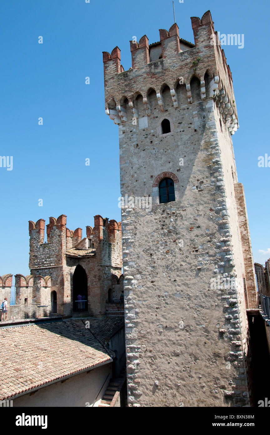 The Interior Of Sirmione Castle On Lake Garda In Northern