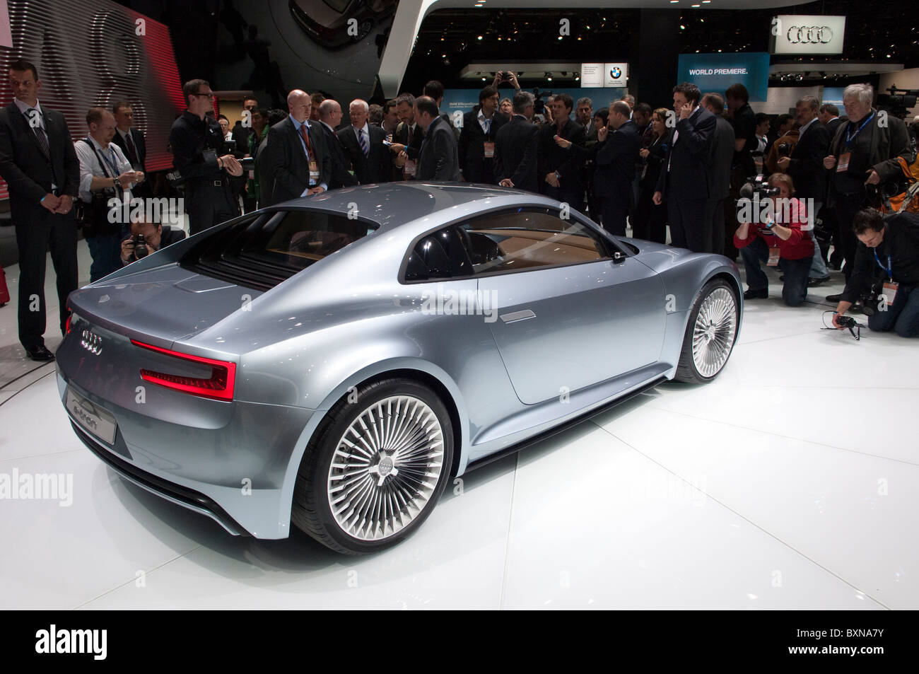 Audi E Tron Electric Sports Car Concept At The 2010 North American  International Auto Show In Detroit