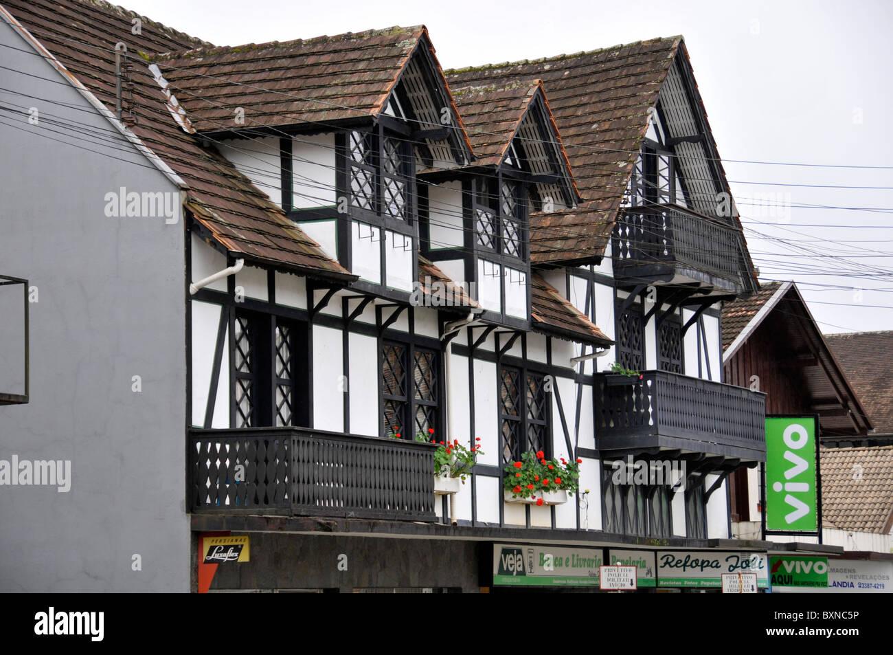 Typical German Style Houses Pomerode Santa Catarina Brazil