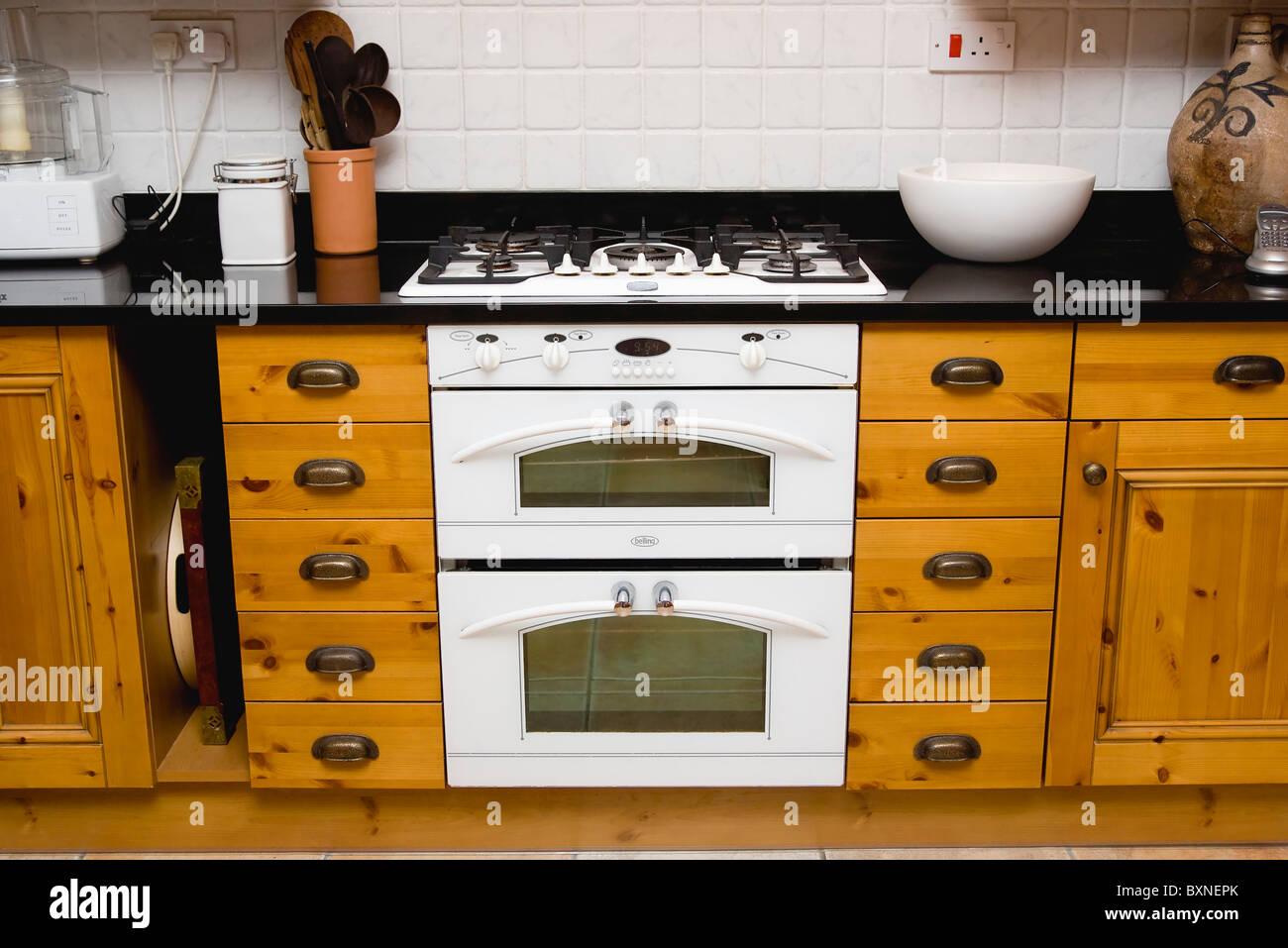 English Hob Kitchen ~ Architecture interiors kitchen white domestic gas hob and
