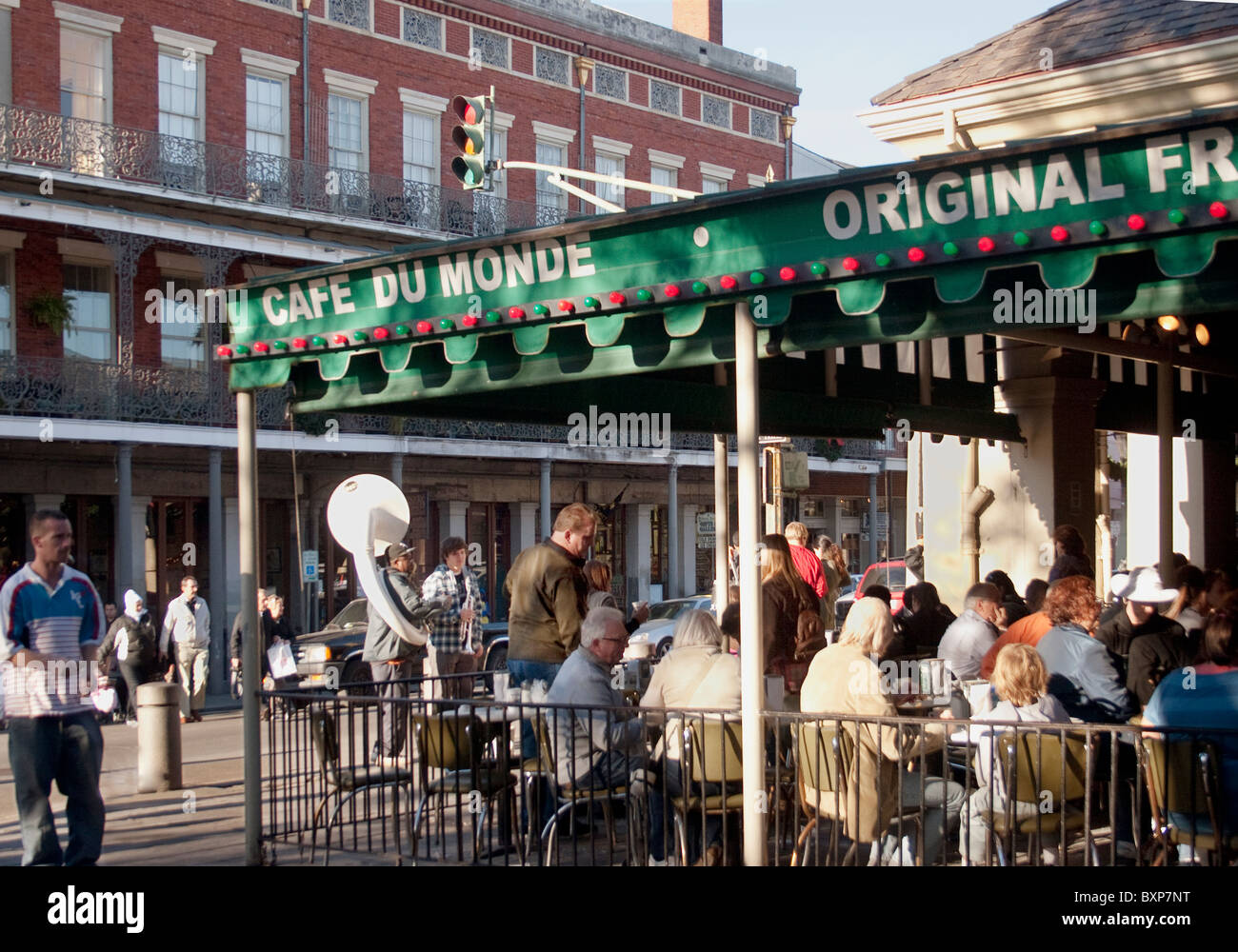 cafe du monde the original french market coffee beignet stand in stock photo royalty free. Black Bedroom Furniture Sets. Home Design Ideas
