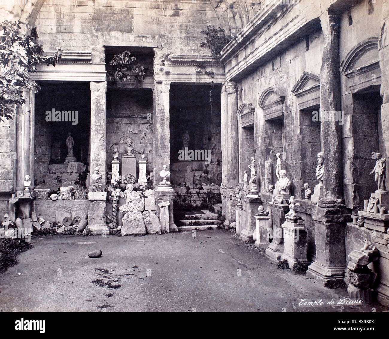 Interior of the Roman Temple of Diana, in the Jardin de la ...