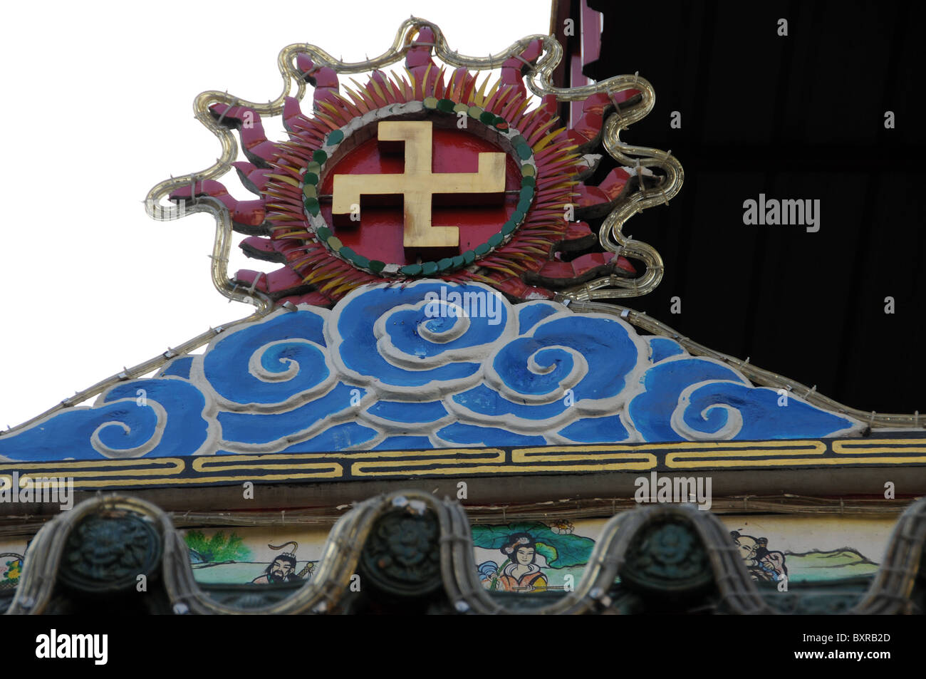 Indian luck symbol in a hindu temple in bangkok stock photo indian luck symbol in a hindu temple in bangkok biocorpaavc Gallery