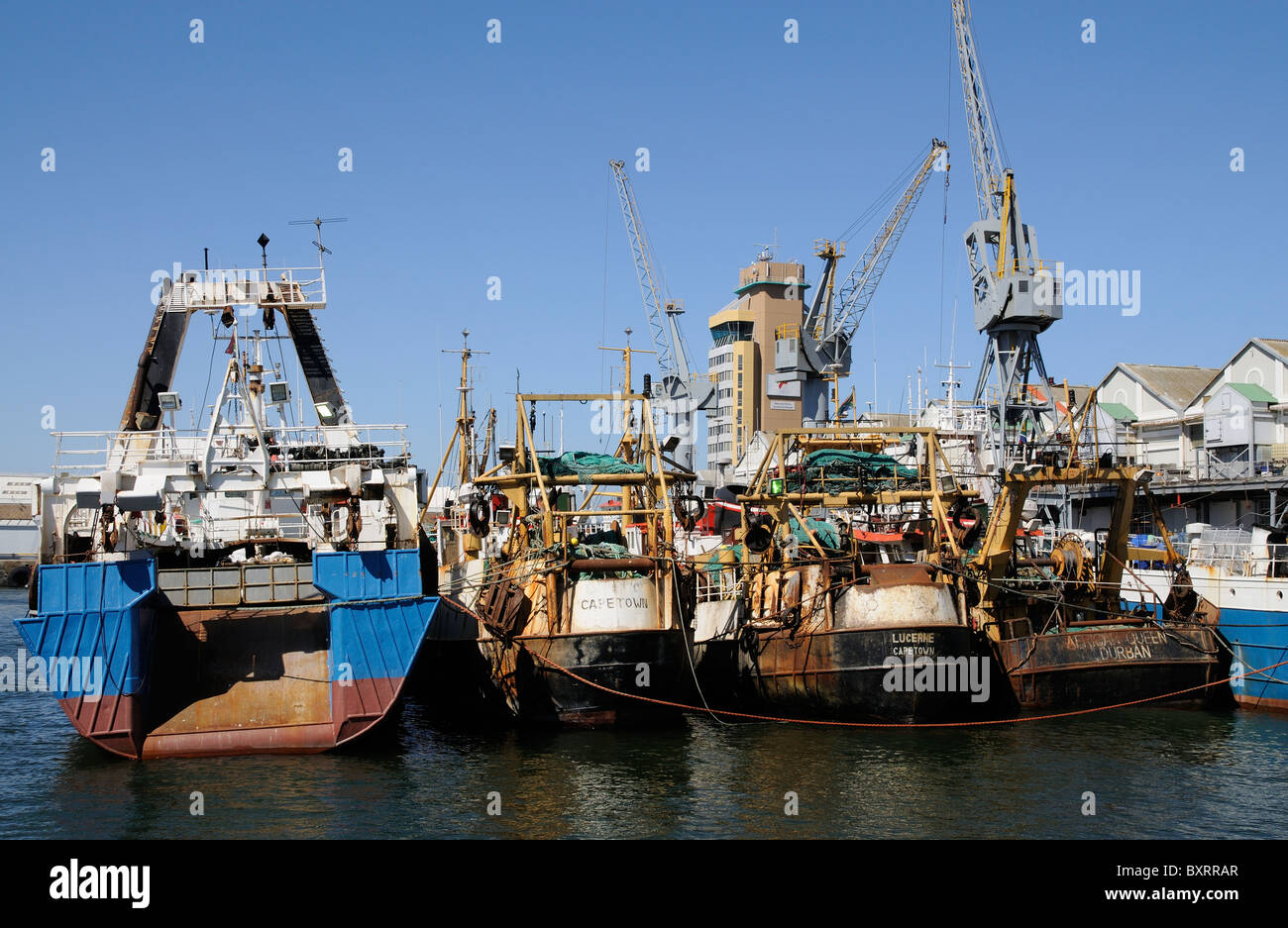 Cape town harbour south africa the commercial fishing port for Port a fishing