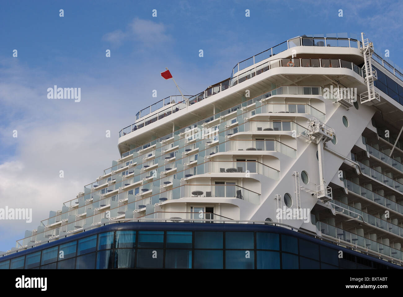Aft Of A Cruise Ship With Balconies Of Luxury Staterooms Stock - What is aft on a cruise ship