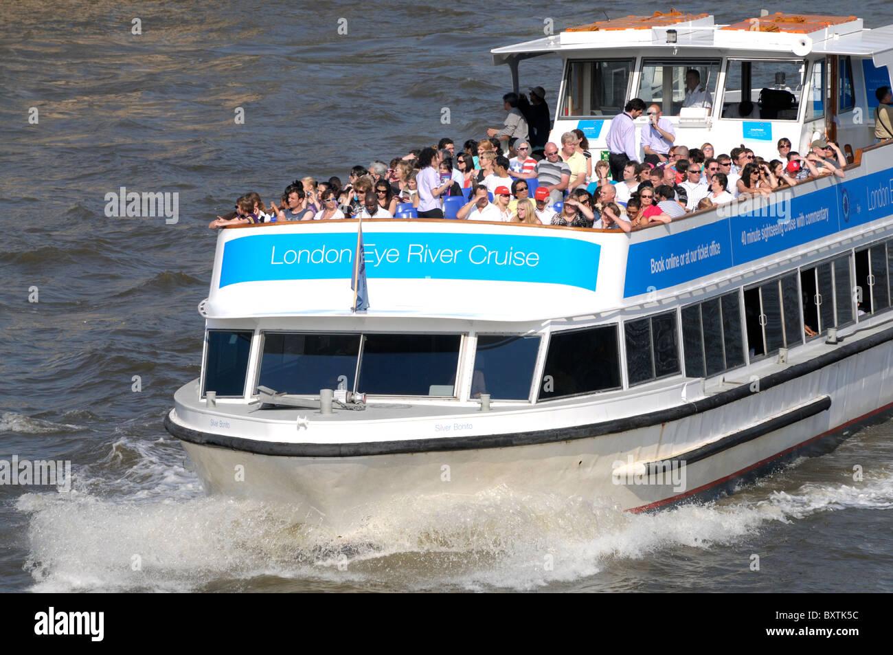 Pleasure Boat On The River Thames London Eye River Cruise