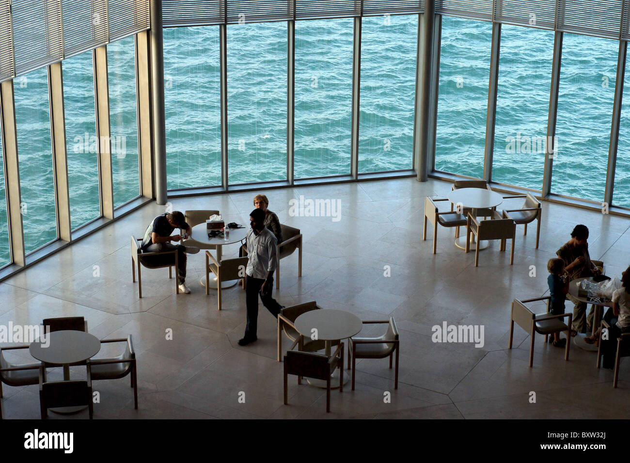 restaurant and coffee shop tables at the museum of islamic art in
