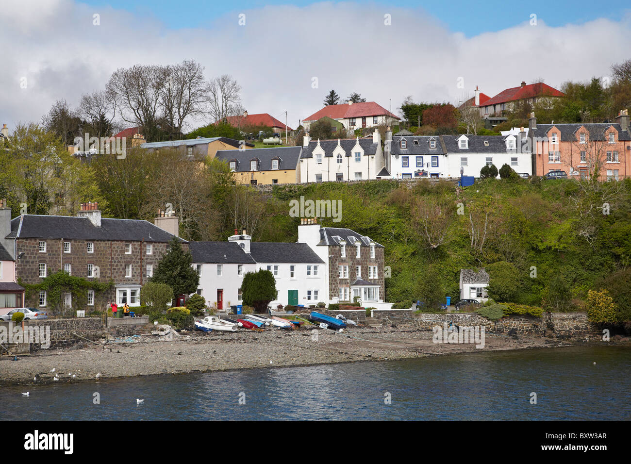 Isle Of Skye United Kingdom  city images : Portree Harbour, Portree, Isle Of Skye, Scotland, United Kingdom Stock ...