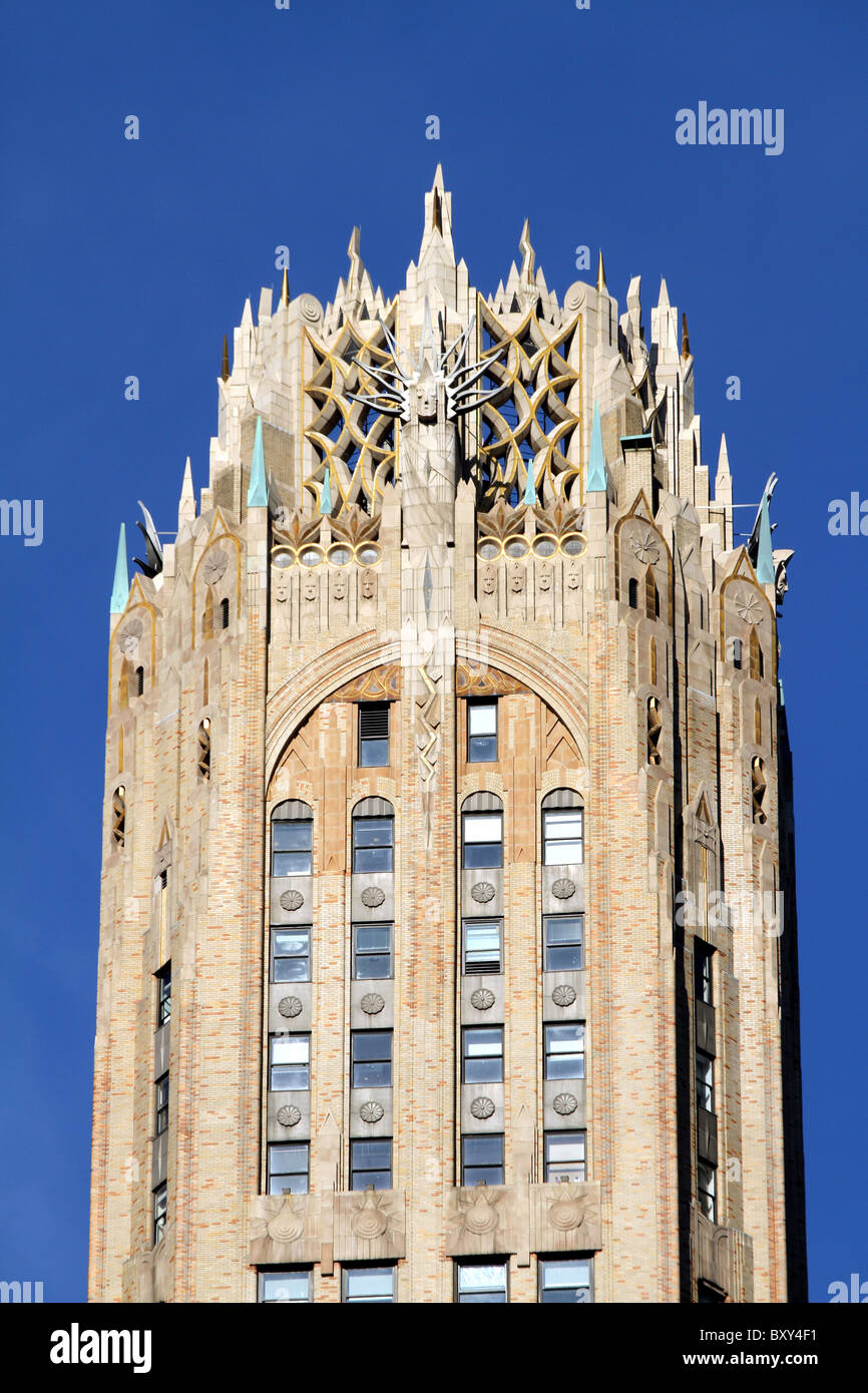 The General Electric Building At 570 Lexington Avenue A Gothic Tower With Art Deco Architecture Decoration New York