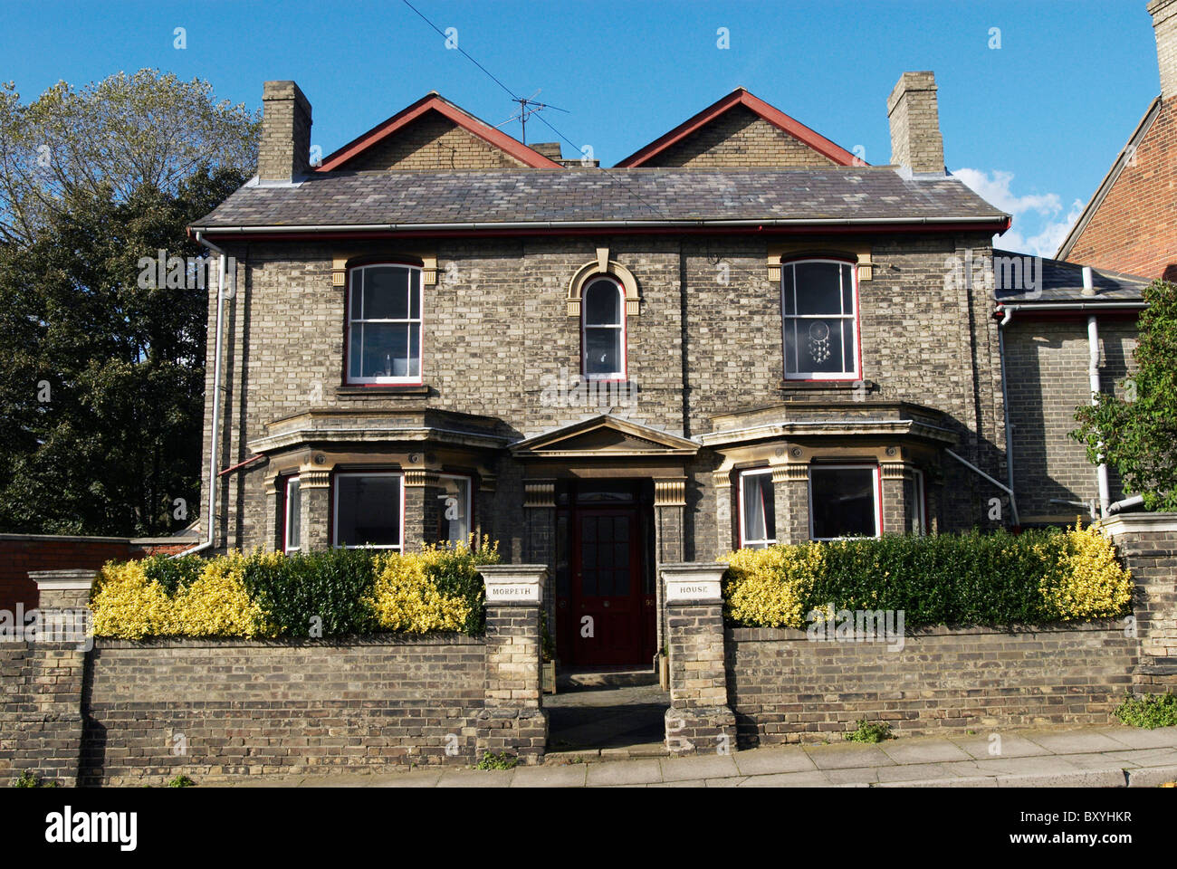 Victorian Double Fronted House England UK Stock Photo