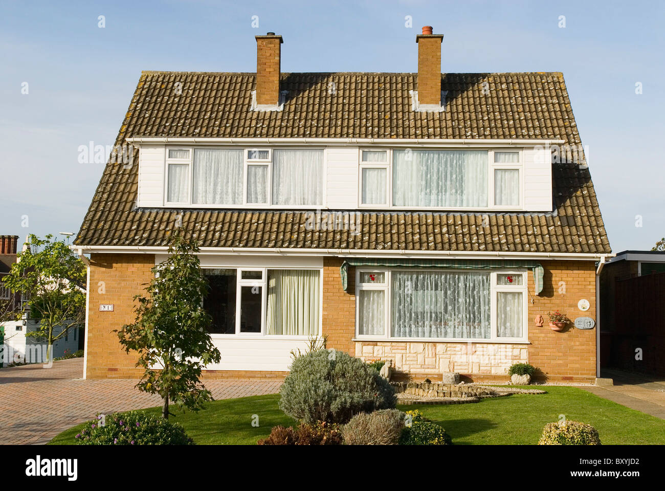 1960S Houses 1960S Semi Detached Houses Ipswich Suffolk Uk Stock Photo Royalty