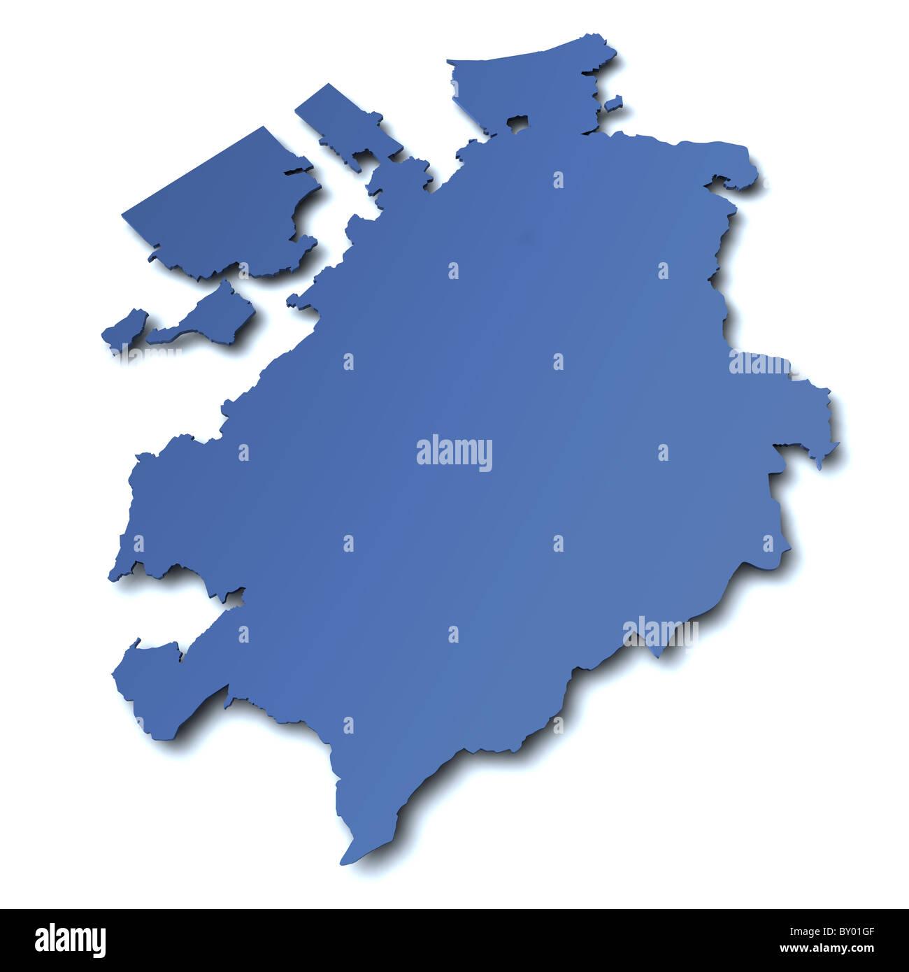 Map of canton Fribourg Switzerland Stock Photo Royalty Free Image