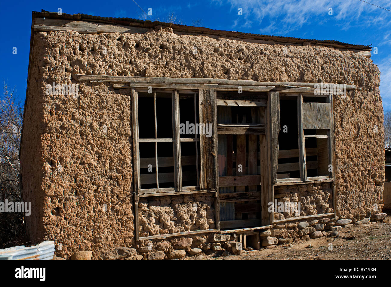 Old Adobe Building In Taos New Mexico Stock Photo Royalty