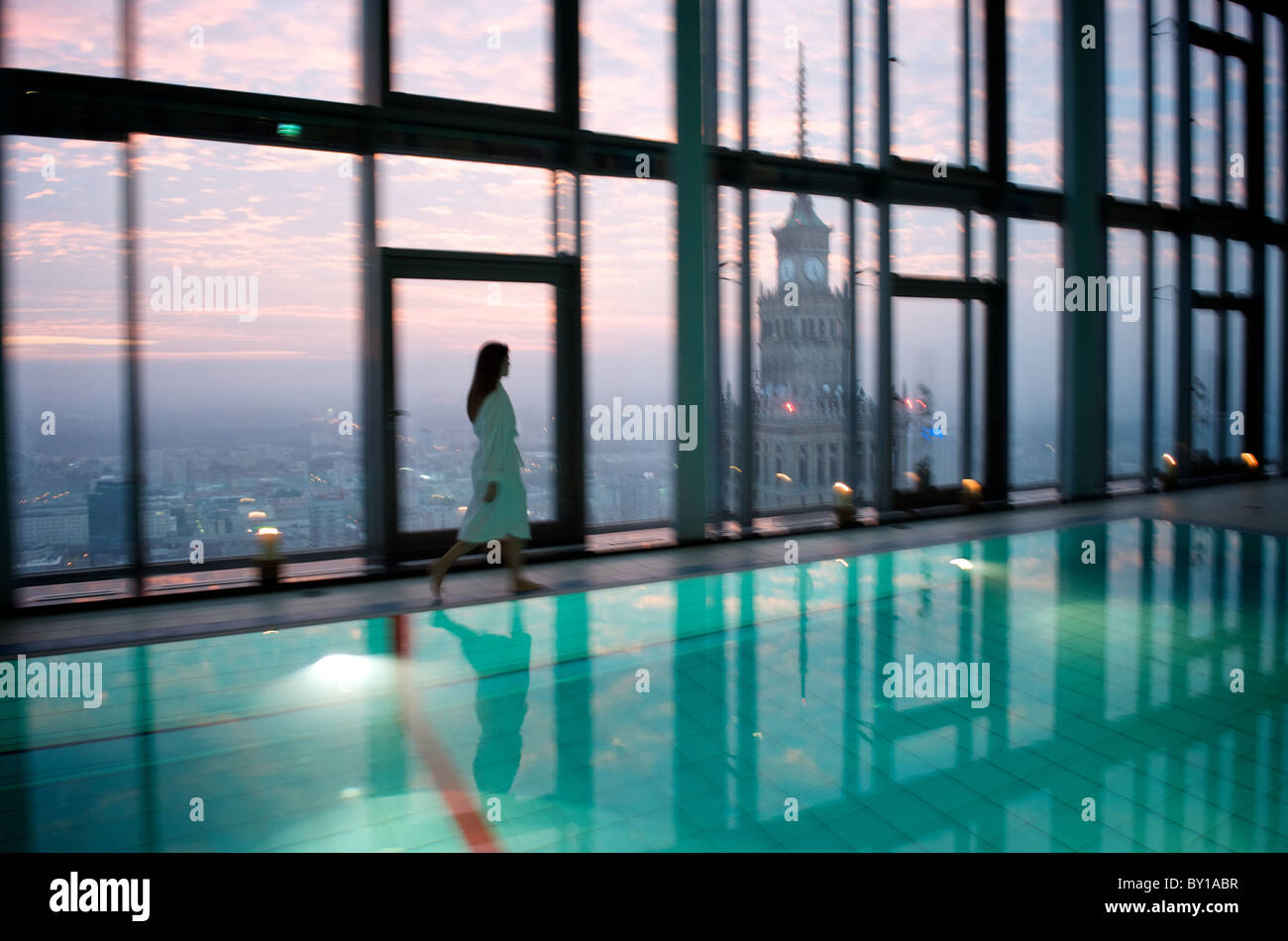 the swimming pool of the hotel intercontinental warsaw poland stock photo 33836203 alamy
