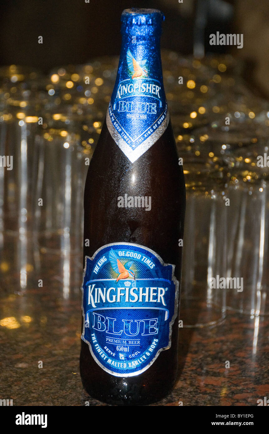 Kingfisher blue beer