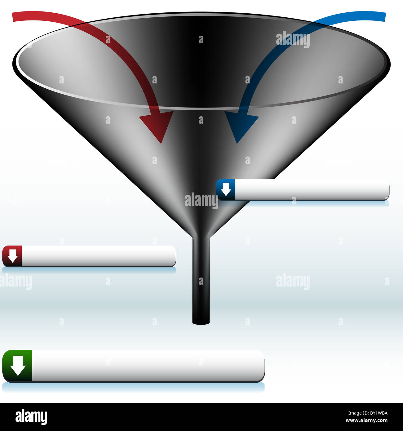 An image of a funnel diagram stock photo royalty free image an image of a funnel diagram pooptronica Images