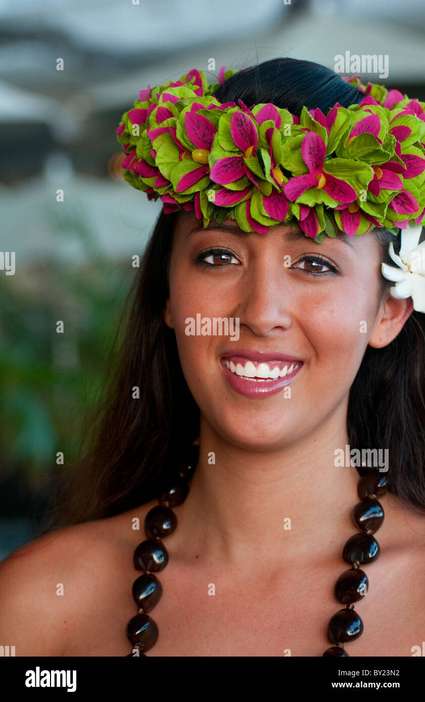 Beautiful hawaiian women