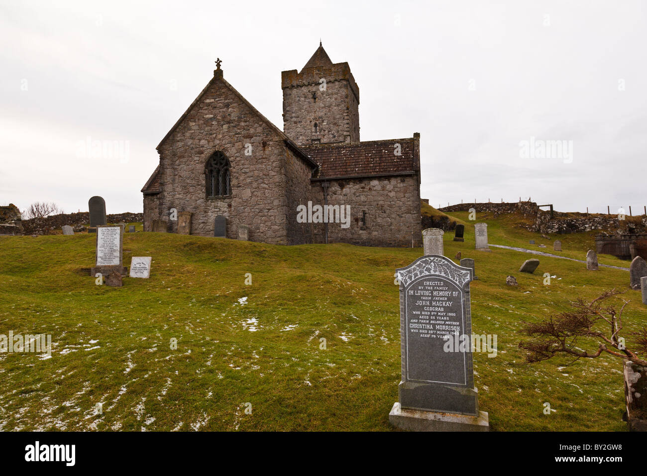 St Clements church in Rodel, Isle of Harris, Scotland ...
