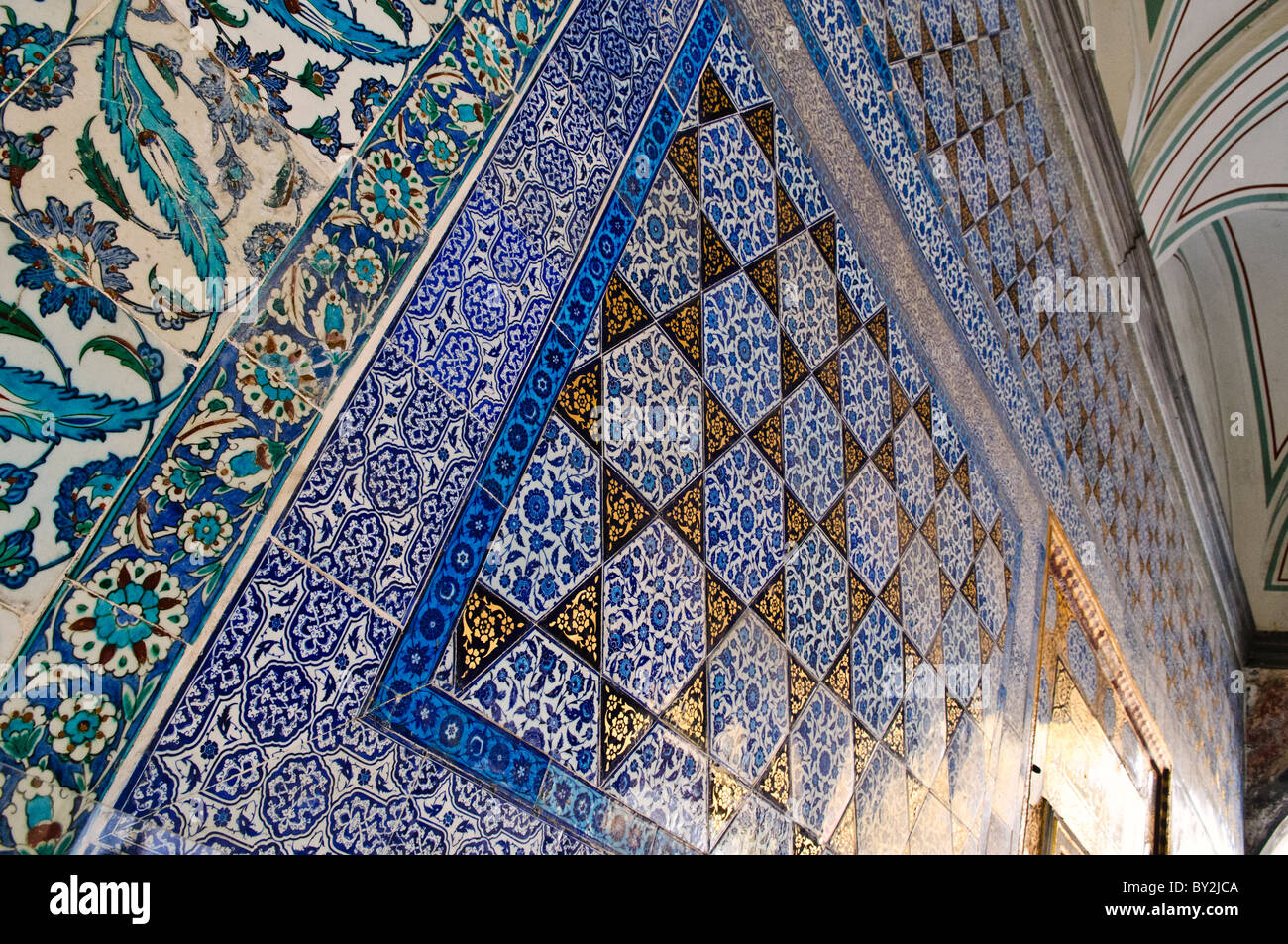 Ornate ceramic tiles lining the walls of the audience chamber ornate ceramic tiles lining the walls of the audience chamber also known as the chamber of petitions in turkish arz odas dailygadgetfo Images