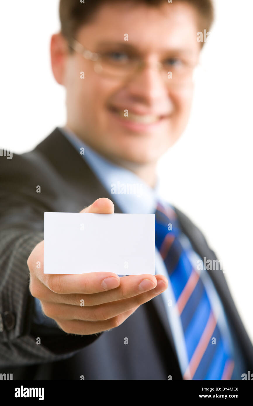 Close up of businessman with holding business card in hand and close up of businessman with holding business card in hand and showing it magicingreecefo Choice Image