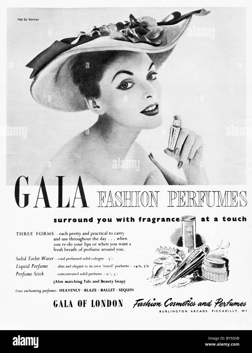 1950s full page advertisement in women s fashion magazine for gala