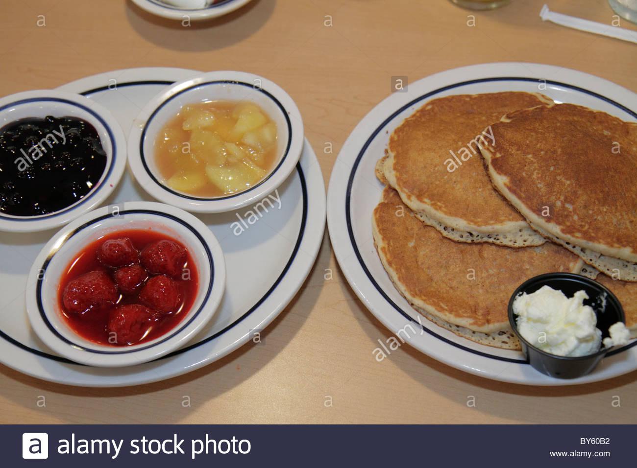 Port Charlotte Florida Ihop Restaurant Pancakes Plates Food Fruit ...