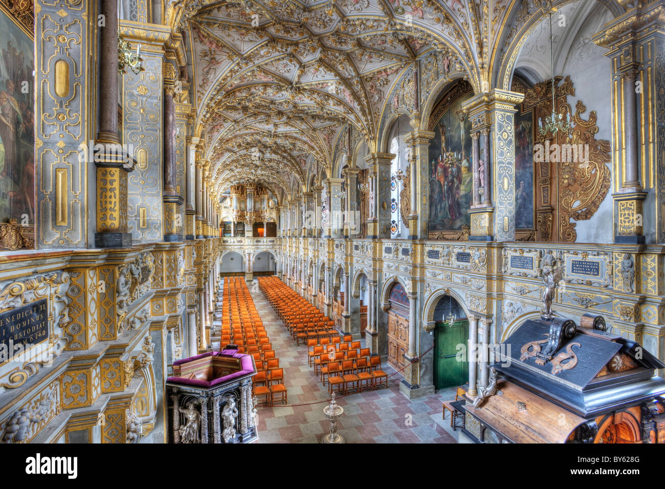 The museum of national history at frederiksborg castle copenhagen - Stock Photo The Chapel At Frederiksborg Castle In Denmark